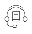 headphone and book technology and e-learning icon vector image vector image