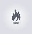 hot fire vector image