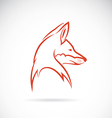 image of an fox head vector image vector image
