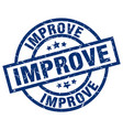 improve blue round grunge stamp vector image vector image