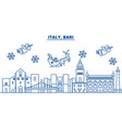 italy bari winter city skyline merry christmas vector image vector image