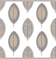 leaves seamless pattern design element can vector image vector image