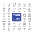line icons set fitness vector image