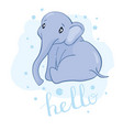 little lovely elephant with mouse and bird vector image