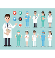 medical and hospital icons vector image vector image