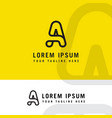 minimalist and modern type a logo vector image vector image