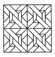 modern square panel is a geometric modern mosaic vector image vector image