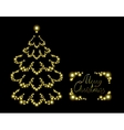Postcard with brilliant Christmas tree EPS10 vector image vector image