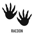 racoon step icon simple style vector image