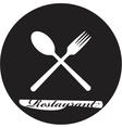 restaurant menu retro poster vector image vector image