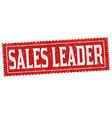 sales leader grunge rubber stamp vector image
