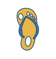 sandal icon image vector image vector image