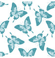 seamless pattern with hand drawn pastel blue vector image