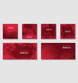 set 6 christmas backgrounds with gradient vector image