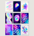 set of 9 creative design posters vector image
