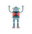 set of robots in cartoon style isolated vector image vector image