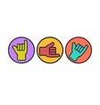 Shaka or hang loose sign gesture vector image vector image