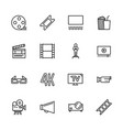 simple set symbols cinema filming cinema and film vector image