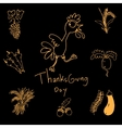 Thanksgiving doodle set art vector image vector image