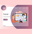 travel website landing page design template vector image