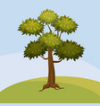 tree background abstract landscape cartoon vector image vector image