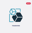two color framework icon from shapes concept vector image vector image