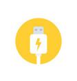 usb charging plug vector image vector image