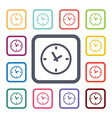 watch flat icons set vector image vector image