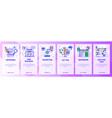 web site onboarding screens seo digital vector image vector image