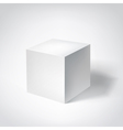 white 3d cube vector image vector image