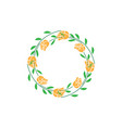 wreath floral isolated design template vector image vector image