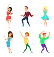 young people dancing active boys and girls in vector image vector image