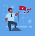 african american business man hold flag successful vector image
