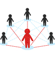 network communication business team concept vector image