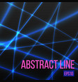 abstract blue light line vector image vector image