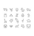 africa line icons signs set outline vector image vector image