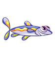 An elongated blue fish vector image vector image