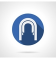 Arched passage blue round flat icon vector image vector image