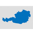 austria map - high detailed blue map with vector image vector image