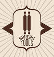 Bakery tools design vector image