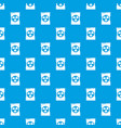 barrel danger pattern seamless blue vector image vector image