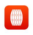 barrel icon digital red vector image vector image