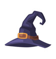 black witch hat witchcraft attribute happy vector image vector image