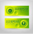 business green horizontal banners vector image vector image