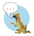 Cartoon Hyena and a word bubble vector image vector image