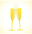 champagne glasses art design stock vector image vector image