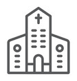 church line icon architecture and christian vector image