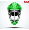 Classic green Goalkeeper Hockey field Helmet vector image vector image