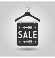 Clothing hanger SALE signage and banner icon vector image vector image