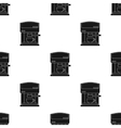 Coffeemaker icon in black style isolated on white vector image vector image